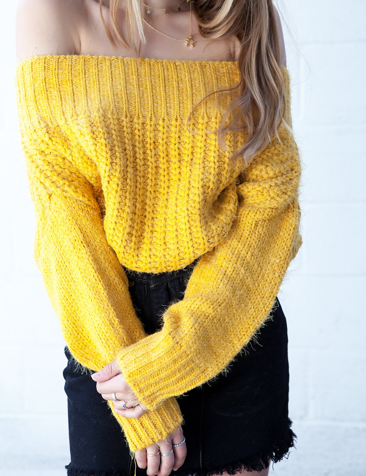 Double Shot Yellow Sweater