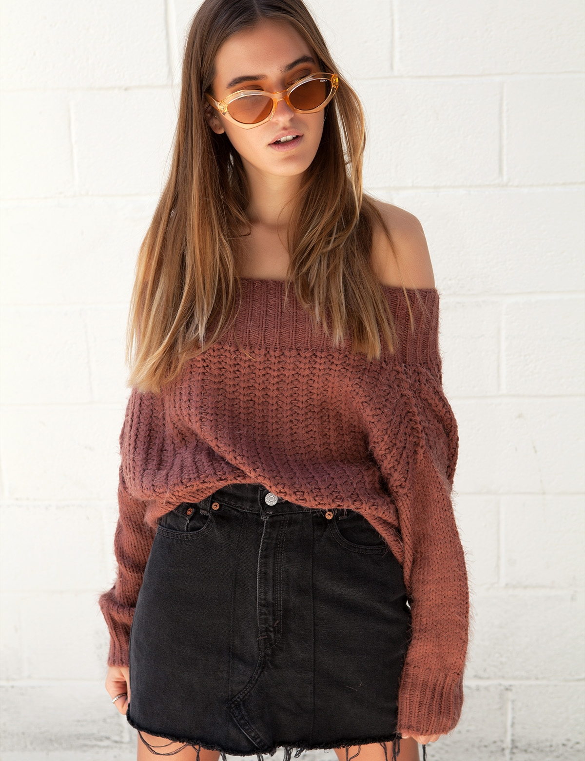 Double Shot Rust Sweater