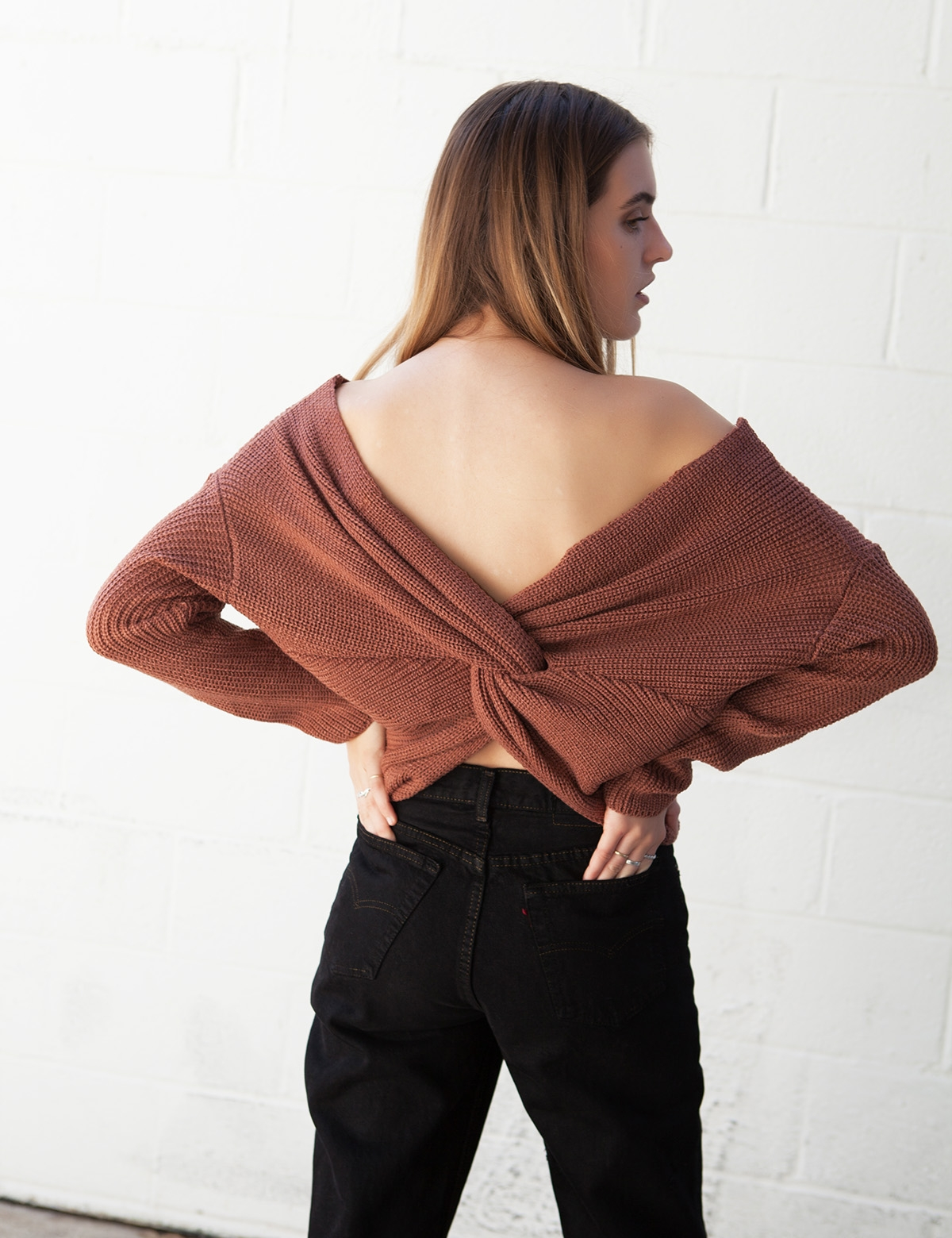 Pretty Please Rust Sweater
