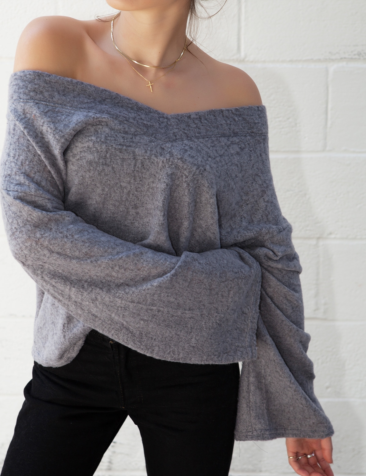 Hudson Charcoal Sweater