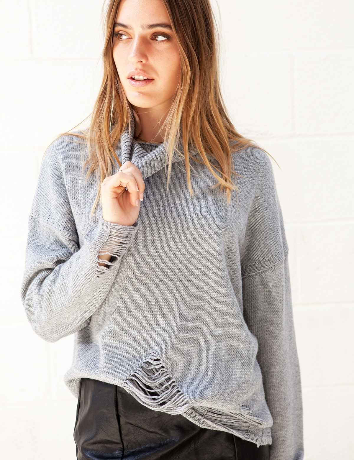 False Alarm Grey Sweater