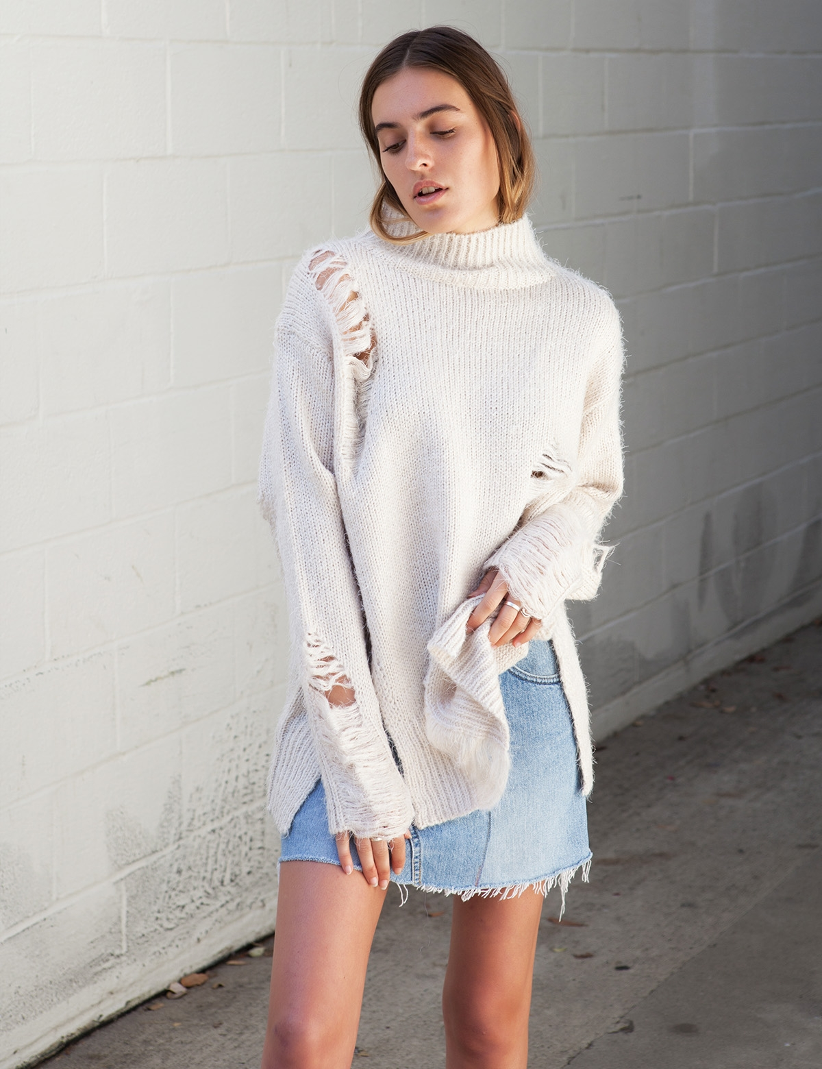 Superego Cream Knit Sweater